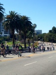 ciclavie riding through park